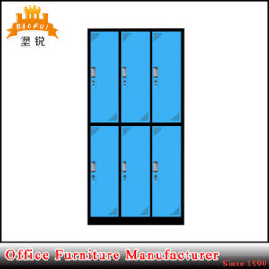 Jas-028 6 Door Galvanized Rust Resistant Metal Clothes Wardrobe with Shelf pictures & photos