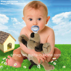 Food Grade Detachable Pacifier with Plush Dog Toy