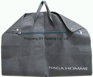 Foldable Non Woven Garment Bag Suit Cover with a Front Zip pictures & photos