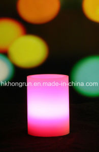 Colour Changing Real Wax Flameless LED Candle with Remote (HR31C)