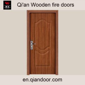 Sapele Veneer MDF Wooden Fire Door pictures & photos