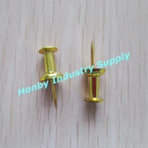New 23mm Gold Plated Handle Shaped Map Push Pin (P151228B) pictures & photos