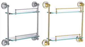 Gagal Sanitary Ware G8006; G8006A Double Glass Shelf Bathroom Accessories pictures & photos