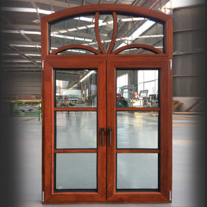 Arched Transom Aluminum Wood Casement Window with Divided Lites pictures & photos