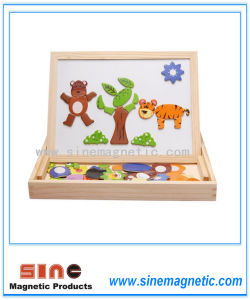 Animal Magnetism Jigsaw Double-Sided Drawing Board Toy Puzzle pictures & photos