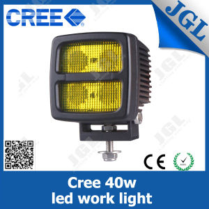 Jgl Square Amber 40W Heavy Duty LED Headlight