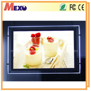 Window Display Acrylic LED Slim Light Box with Fasten Bolt pictures & photos