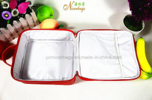High Quality PU Cosmetic Bag with Handle for Promotional pictures & photos