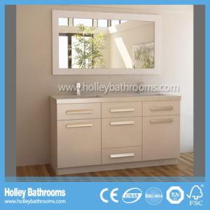 American Style Clean Cut Floor Mounted Solid Wood Bathroom Vanity Cabinet (BV196W) pictures & photos