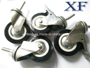 4 Inch PU Swivel Industrial Caster Wheel with Brake pictures & photos