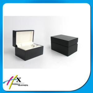 Leather Tray Insert Black Matt Wooden Jewelry Packing Ring Box pictures & photos