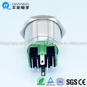 Qn25-A2 25mm DOT Type Momentary|Latching Flat Head Pin Terminal Metal Push Button Switch pictures & photos