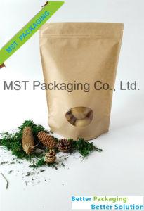 Window Bag/Snacks Food Bag/Stand up Bag with Ziplock pictures & photos