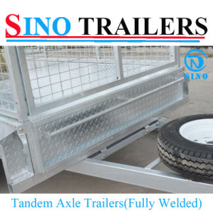10X5 Fully Welded & Heavy Duty Box & Cable Disc Brake Tandem Trailers pictures & photos