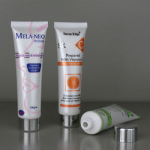 Plastic Cosmetic Tube Lotion Tube with Silver Cap pictures & photos