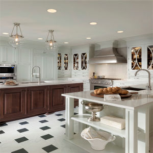 Contempory Style American Beech Wooden Kitchen Cabinet pictures & photos