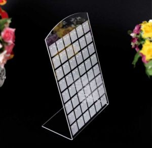 "Acrylic Earring Display Stand Holder, Jewelry Display 96 Pieces or 48 Pair 6.3""W X 9.6""H Black or Clear pictures & photos"
