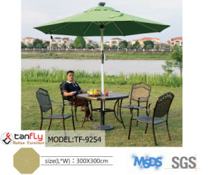 Remote Control Aluminum Beach Umbrella with Solar Power LED Light