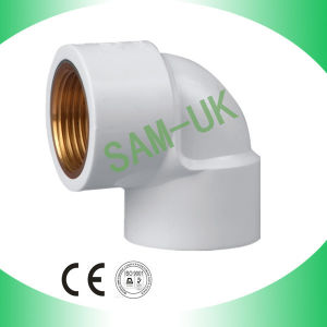 BS Standard PVC BSPT Reliable Elbow with Brass Fitting pictures & photos