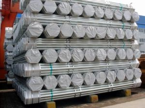 Hot Dipped Galvanized Round Iron Pipe with Plastic Wrapped on Ends pictures & photos