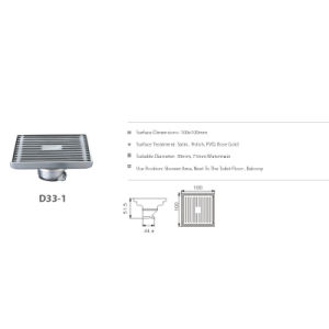 Stainless Steel Bathroom Hardware Floor Drain (D33-1) pictures & photos