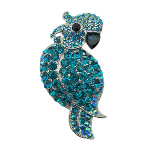Culorful Rhinestone Zinc Alloy Parrot Design Brooch for Party pictures & photos