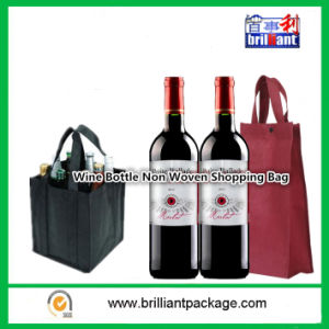 Environmental Protection Can Be Recycled Wine Bottle Non Woven Shopping Bag pictures & photos