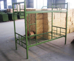 Army Staff School Double Decker Layer Steel Iron Metal Bunk Bed pictures & photos