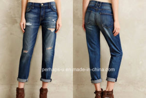 Fashion Design Ladies Loose Sexy Jeans pictures & photos