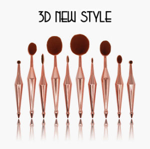 New Style 3D Mermaid Oval Toothbrush Makeup Brush