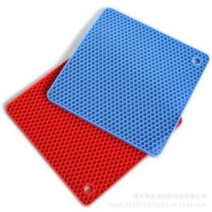 Table Tennis Shape Heat Insulation Anti Skid Silicone Dining Table Mat pictures & photos