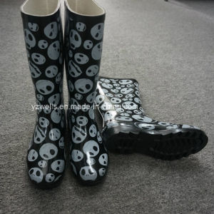 Rain Boots with Skeletons