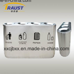 Stainless Steel 201 Material Ash Urn Top Opening Metal Outdoor Waste Bin pictures & photos