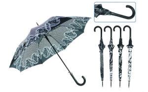 Straight Automatic Black&White Design Umbrella (YS-SA23083923R) pictures & photos