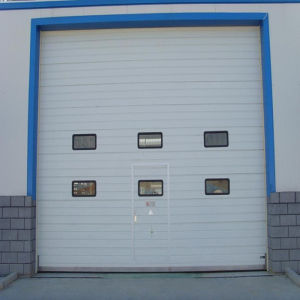 China Industrial Insulated Sectional Overhead Lifting Door (HF-003) pictures & photos