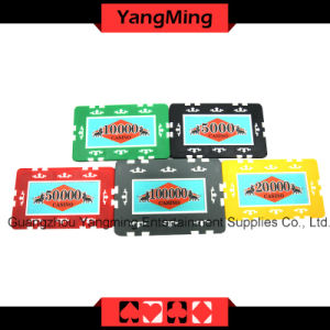 760 PCS Texas Holdem Style /Clay Sticker Poker Chip Set for Gambling Game (YM-MGBG001) pictures & photos