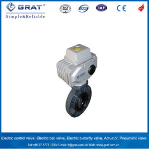 Flange Pattern Plastic PVC Electric Butterfly Valve pictures & photos