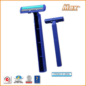 Platinum Coated Stainless Steel Twin Blade Disposable Razor (LY-2050) pictures & photos