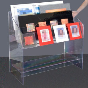 Acrylic Display Stand/Acrylic Display Shelf for Book, Magazine (MDR-046) pictures & photos
