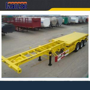 Cimc 3 Axle Skeleton Semi Trailer Sale for Container Transportation pictures & photos