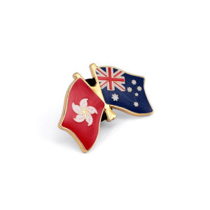 National Flag Pins, Brass Gold Plated Badges (GZHY-LP-026) pictures & photos
