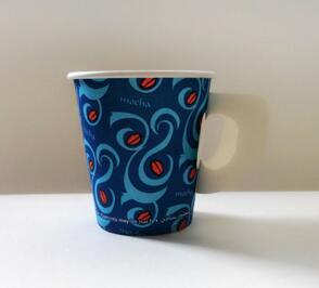 8oz Disposable Printed Paper Cups for Coffee with Lid with Handle pictures & photos