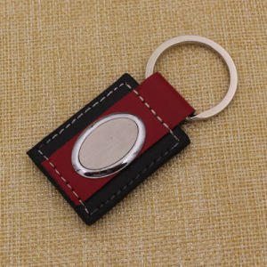 2015 Manufacture Cheapest Leather Key Chain with Custom Logo pictures & photos