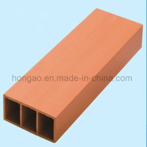 100*40mm Eco-Friendly Square Tube Wood Plastic Composite