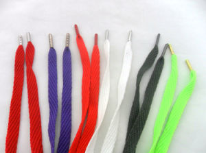 Custom Athletic Color Cotton Shoe Laces pictures & photos