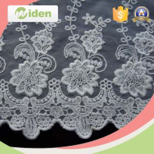 Okeo Approval Heavy African Lace Fabric Swiss Voile POM POM Lace pictures & photos