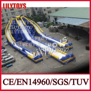 Exciting! Largest Blue Color Adult Inflatable Water Slide for Beach (V-HP-048) pictures & photos