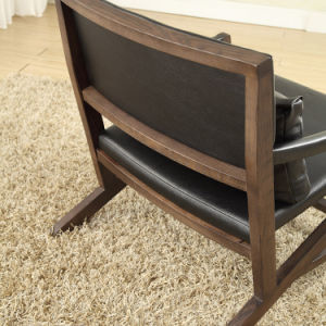 Top Grade Leather Leisure Chair with Wood Frame (LCS-005) pictures & photos