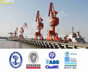 Mobile Jib Harbour Portal Crane, Dock Crane, Jetty Crane
