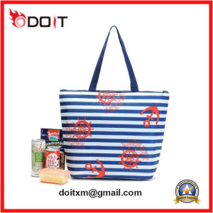 Custom Logo Blue Canvas Fashion Tote Shopping Bag (Quick Delivery) pictures & photos
